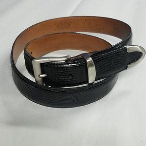 Bosca mens leather belt sz 34